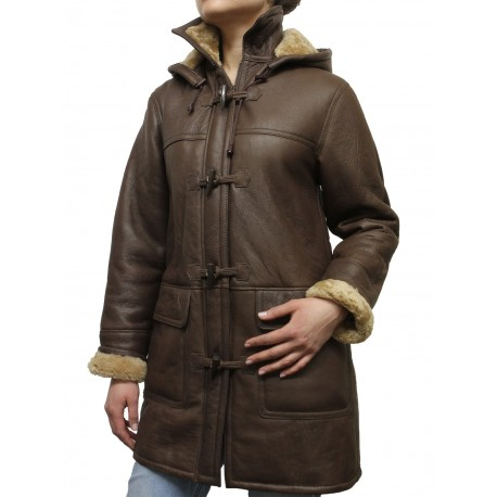 Ladies Shearling sheepskin Jacket - Inami