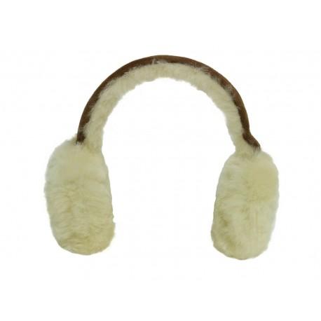 Hamptons Brown Classic Unisex Genuine Sheepskin Ear Muffs