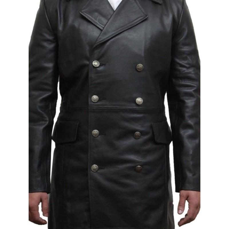 Men S Black Captains Jacket Military Style Real Vintage