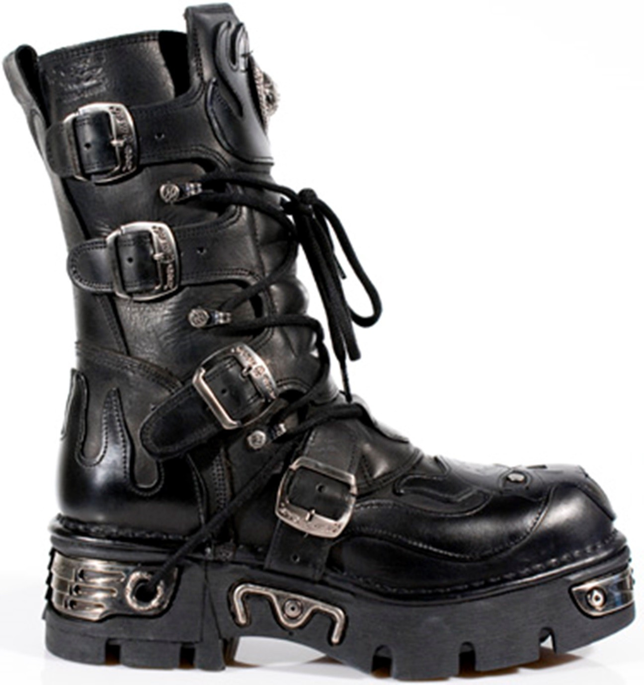 New Rock Black Leather Biker Gothic