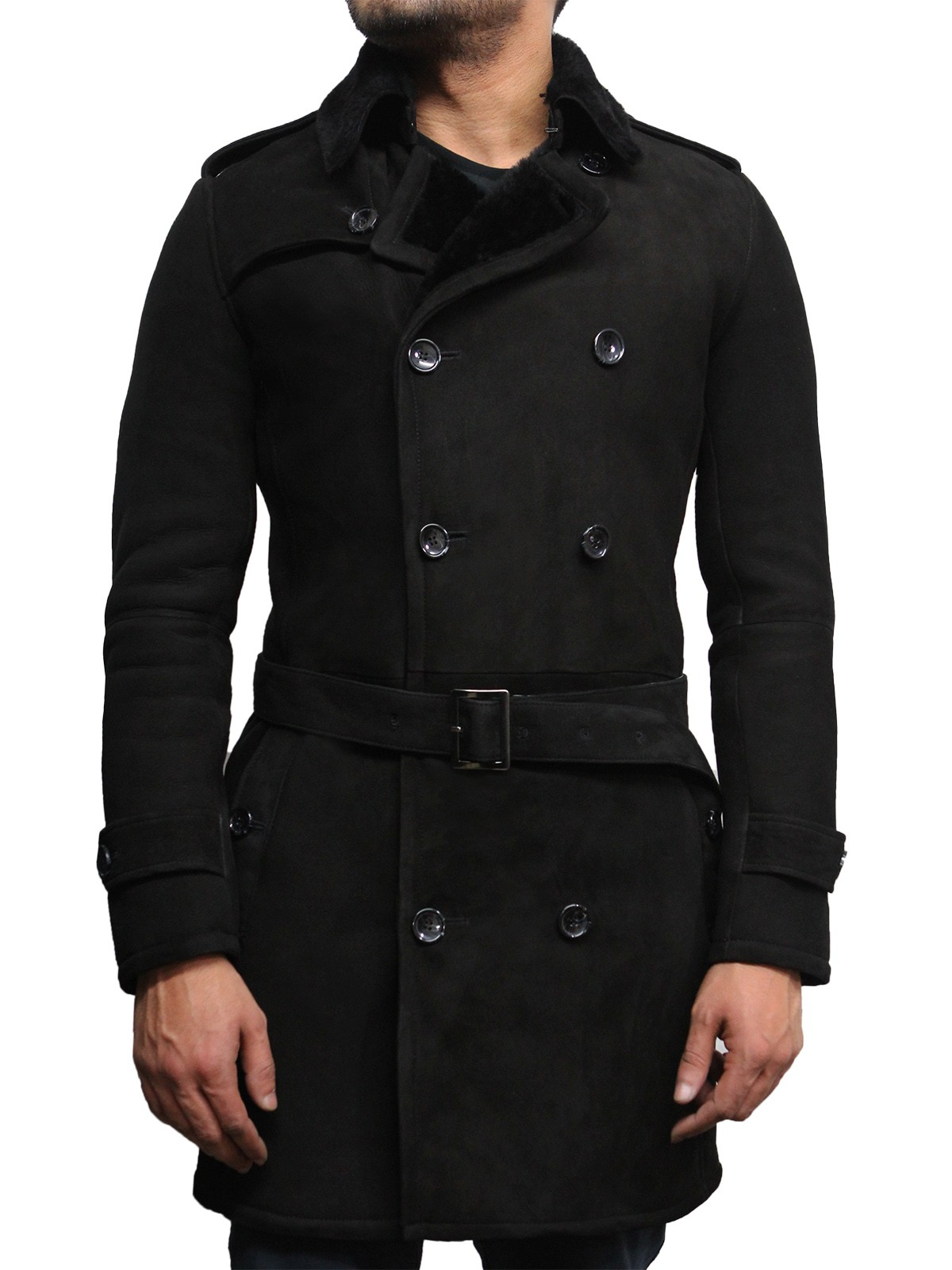 mens belted coat
