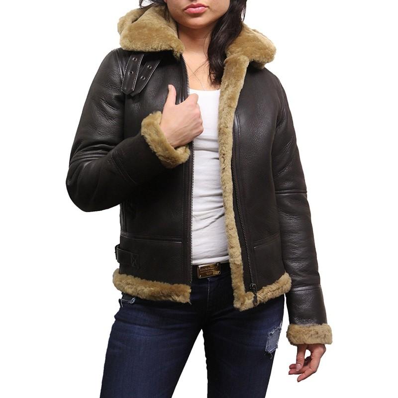 Women/'s Hooded Leather Jacket Soft Lamb Skin Hoodie for Ladies