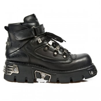 New Rock Men's metallic leather boots M.654-S1