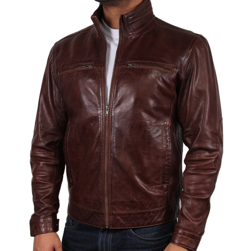 Tan leather jackets for men