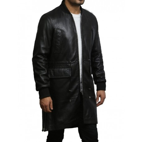 Mens Black Real World War 2 Jacket Military Style Coat