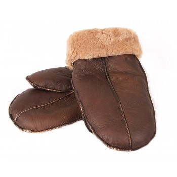 Genuine Real Sheepskin Leather Gloves Mittens Unisex