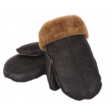 Genuine Real Sheepskin Leather Gloves Mittens Unisex
