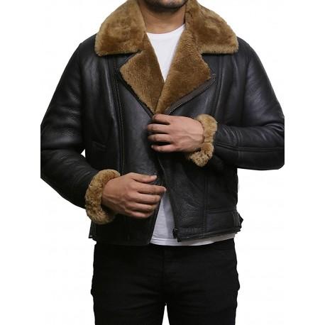 Men's shearling sheepskin jacket - Warid