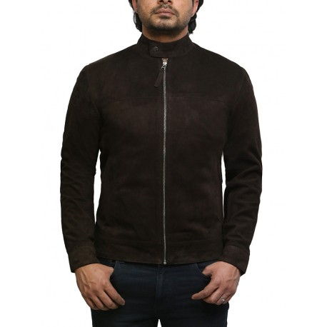 Men's Pacific Suede Brown Jacket Superior Quality Soft Leather Jacket.