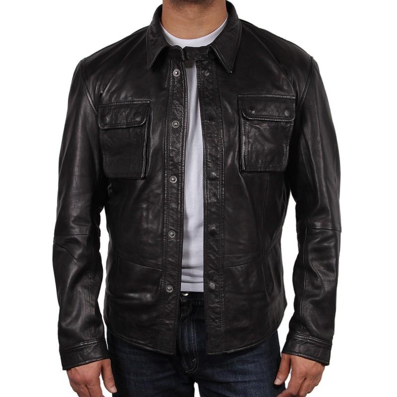 Leather Jacket and Shirt