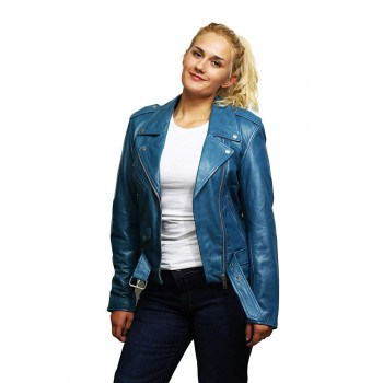Womens Genuine leather Biker Jacket Casual Brando