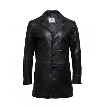 Men's Genuine Sheepskin Leather Jacket Smart Coat Idea Winter Outer Wear