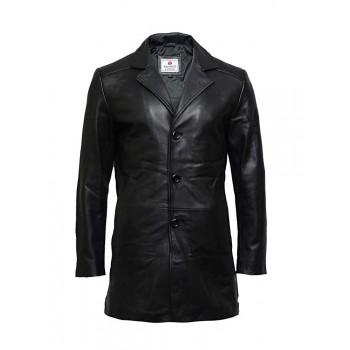 Men's Genuine Sheepskin Leather Jacket Smart Coat Idea Winter Outer Wear