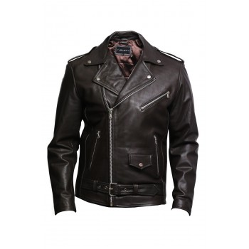 Men's Leather Biker Jacket  - Efron