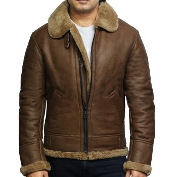Men's Genuine Shearling Sheepskin Leather Ricardo jacket