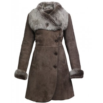 Women Spanish Merino Genuine Shearling Sheepskin Leather Toscana Coat