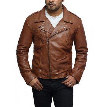 Mens Leather Jacket Genuine Brando Style