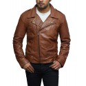 Mens Leather Jacket Genuine Brando Style