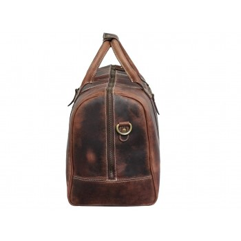 Genuine Leather Travel Duffle Bag Vintage (Brown)
