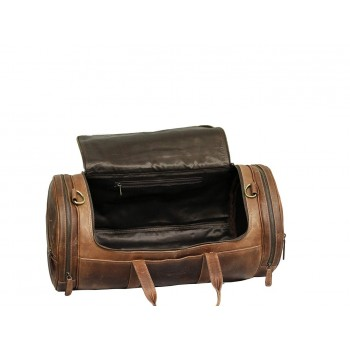 Genuine Leather Travel Duffle Bag Vintage Style