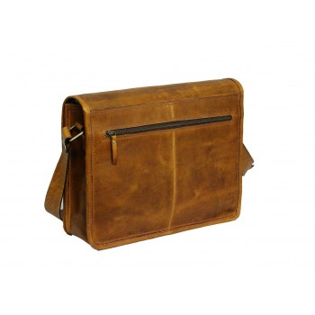 Unisex Genuine Leather Laptop Messenger Shoulder Bag Multi-Functional Style