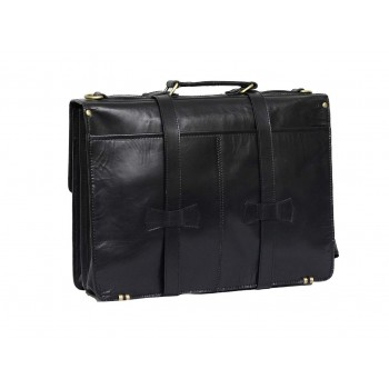 Unisex Genuine Leather Laptop Messenger Shoulder Bag