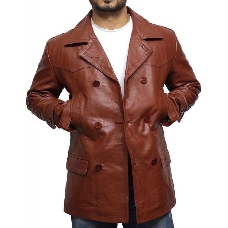 German Submariner WW2 Vintage Men/'s Black Real Leather Jacket//Coat