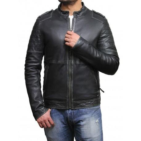 Mens Genuine Leather Biker Jacket Vintage Antique