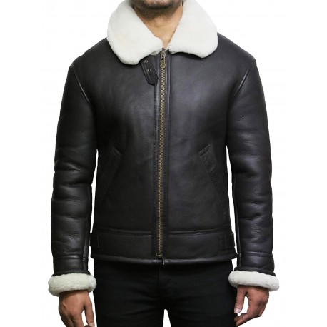 Men's shearling sheepskin jacket - Criss