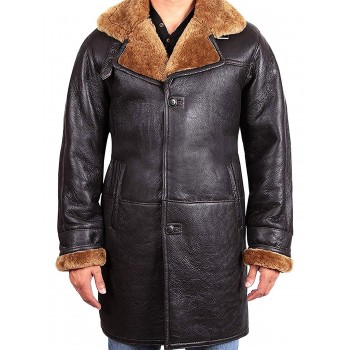 Men's shearling sheepskin duffle coat - Virginia