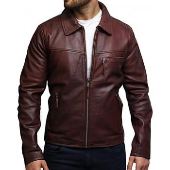Men's Leather Biker Jacket Genuine Cow Hide Brando Vintage Rustic