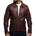 Men's Leather Biker Jacket Genuine Cow Hide Vintage Rustic
