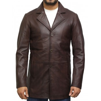 Men's Genuine Lambskin Leather Three-Button Lightweight Coat
