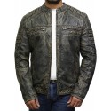Men's Real Leather Biker Jacket - Jimmy