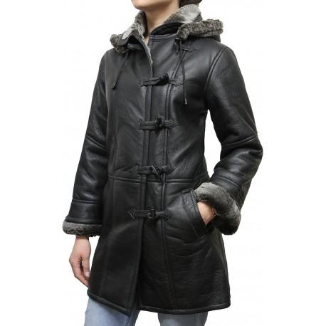 Women Shearling sheepskin Jacket Coat- Nebraska