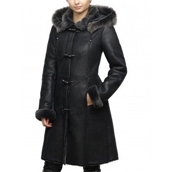 Women Shearling sheepskin Jacket Coat- Oslo