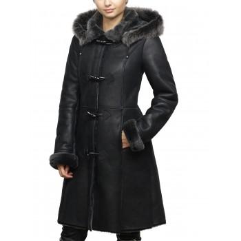 Women Shearling sheepskin Jacket Coat- Oslo