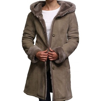 Women Shearling Sheepskin Jacket Coat Annecy-Taupe