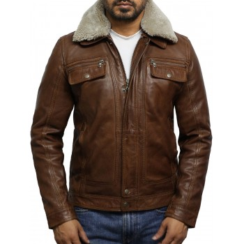 Men's Trucker Tan Detachable Collar Coat