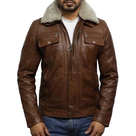 Men's Trucker Tan Detachable Collar Coat