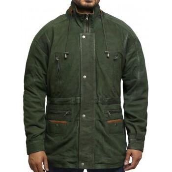 Mens Winter Parka Green Coat Retro
