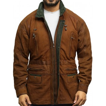 Mens Winter Parka Rustic Coat Retro