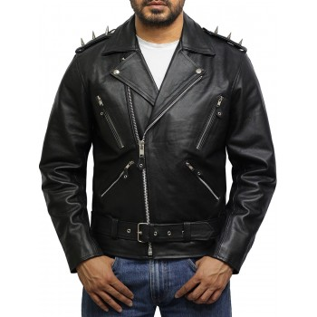 Ghost Rider Men's Black Leather Jacket