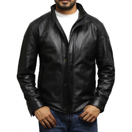 Men's Vintage Black Genuine Leather Jacket