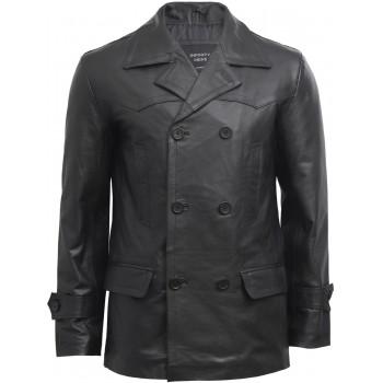 Mens Military Style Black Original Vintage Biker Jacket