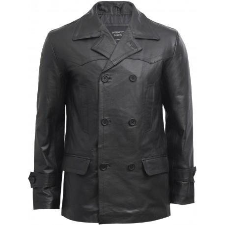 Mens Black Military Style Real Vintage Jacket BNWT - Adlar