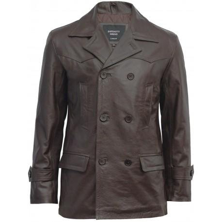Mens Brown Military Style Real Vintage Jacket BNWT - Adlar