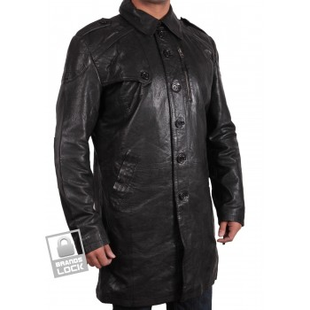 Men's Black Leather Jacket - Outsider