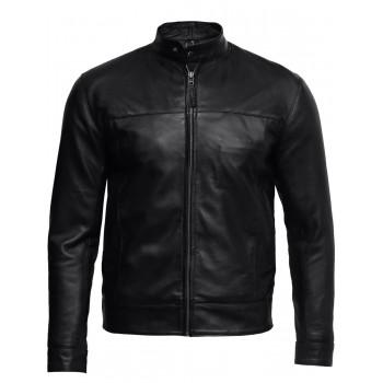 Men's Black Leather Jacket - Bradley