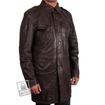 Men's Brown Leather Jacket - Outsider